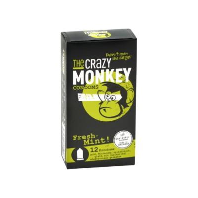 THE CRAZY MONKEY Fresh Mint óvszerek