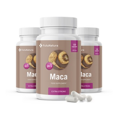 3x Maca 20:1 Extra Strong 8000 mg