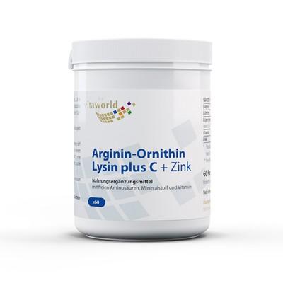 Arginin + ornitin + lizin C-vitaminnal és cinkkel